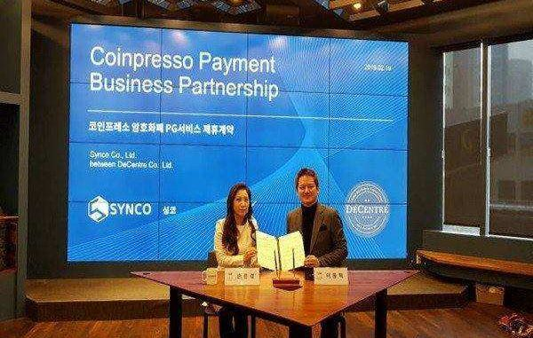 DeCentre Signs a Business Partnership with Synco